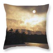 Sun Behind The Clouds Throw Pillow