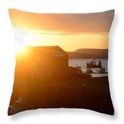 Sun Rise At Lyme Regis  Throw Pillow