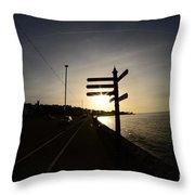 Sun Rise Sign Throw Pillow