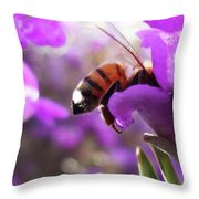 Sunburned Bee Butt Throw Pillow