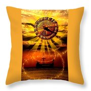 Sundial Throw Pillow