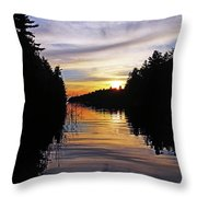 Sundown On The River Throw Pillow