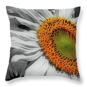 Sunflower And Shy Friend Throw Pillow