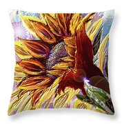 Sunflower In The Sun Throw Pillow by Darren Cannell