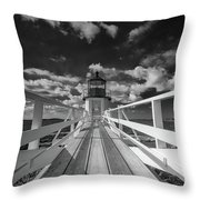 Sunny Skies At Marshall Point In Black And White Throw Pillow