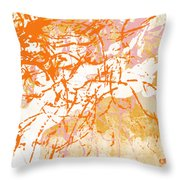 Sunrise 2- Abstract Art By Linda Woods Throw Pillow