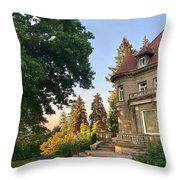 Sunrise At The Mansion Throw Pillow