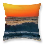 Sunrise First Day Throw Pillow by Mike Hudson