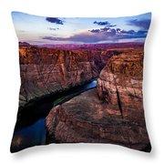 Sunrise Horseshoe Throw Pillow