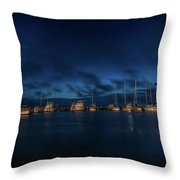 Sunrise In Rockport Throw Pillow