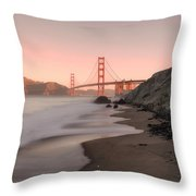 Sunrise In San Fransisco- Throw Pillow by JD Mims