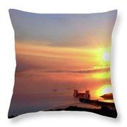 Sunrise - Morning Calm Throw Pillow