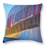 Sunrise On An Old Airplane Throw Pillow