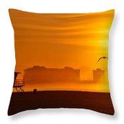 Sunrise On Coronado Throw Pillow
