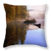 Sunrise On Nick's Lake Throw Pillow