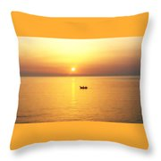 Sunrise Over Banyuls Throw Pillow