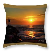 Sunrise Over Indian River Inlet Throw Pillow