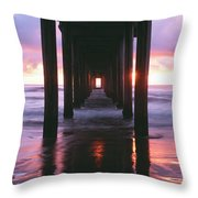 Sunrise Over The Pacific Ocean Seen Throw Pillow