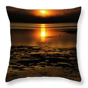 Sunrise Rathtrevor Beach 6 Throw Pillow