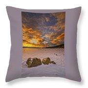 Sunrise Rocks Throw Pillow