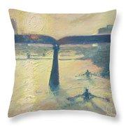 Sunrise Rowers On Lady Bird Lake Austin Throw Pillow