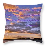 Sunrise Sky Jeremiah 29 11 Throw Pillow by Lisa Wooten