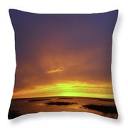 Sunset At Cheyenne Bottoms -02 Throw Pillow by Rob Graham