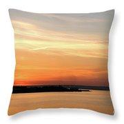 Sunset, Bay Of Palma Throw Pillow