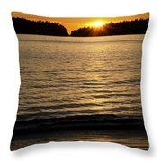 Sunset Beach Vancouver Island 2 Throw Pillow