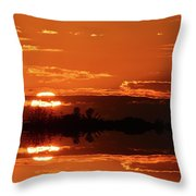 Sunset Behind Clouds Two Throw Pillow