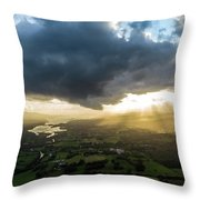 Sunset Between The Bay Throw Pillow