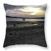 Sunset By Bucklands  Beach Throw Pillow
