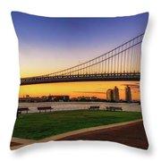 Sunset By The Ben Throw Pillow