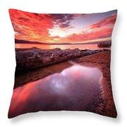 Sunset Harmony At Kiva Beach Throw Pillow