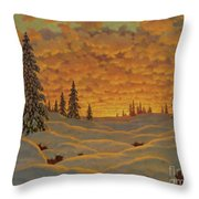 Sunset In Finland  Throw Pillow