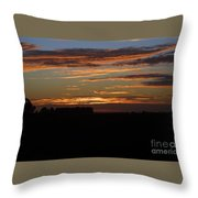 Sunset In Southern Missouri Throw Pillow