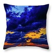 Sunset In St. Petersburg Throw Pillow by Louis Dallara