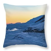 Sunset In The Arctic Throw Pillow