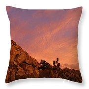 Sunset, Joshua Tree National Park Throw Pillow