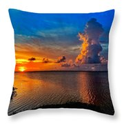 Sunset On Cudjoe Bay 8584 Throw Pillow