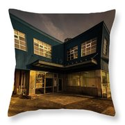 Sunset On North Building Throw Pillow by Juan Contreras