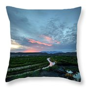 Sunset On The Rio Grande Throw Pillow