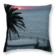 Sunset Over A Balcony Throw Pillow