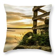 Sunset Over Reva Throw Pillow
