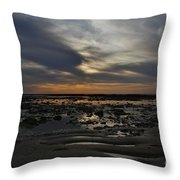 Sunset Over The Rota Corrales Throw Pillow