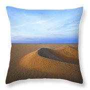 Sunset  Sand Dunes Throw Pillow