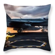 Sunset Shooter Throw Pillow