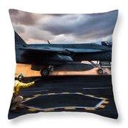 Sunset Shooter Throw Pillow