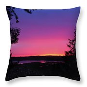Sunset Summer Throw Pillow