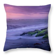 Sunset Surf On The Gulf Of Mexico, Venice, Florida Throw Pillow